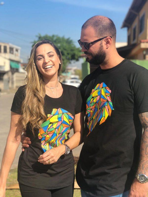 Camisa Leão Colorido