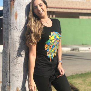Camisa Leão Colorido (feminina)
